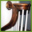 Subject: Solid Walnut Handrail; Date: August 31, 2004; Photographer: Sonya Newenhouse