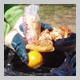 Subject: Food Waste in trash at Memorial High School; Date: April 2005; Photographer: Doug Pearson